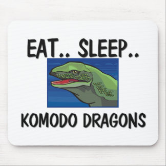 睡眠のコモドオオトカゲを食べて下さい マウスパッド
