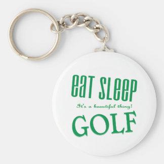 睡眠のゴルフを食べて下さい キーホルダー