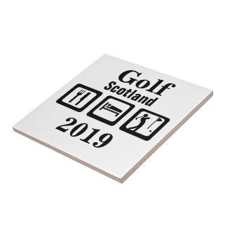 睡眠のゴルフを食べて下さい タイル