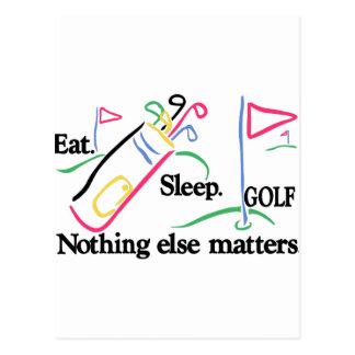 睡眠のゴルフを食べて下さい ポストカード