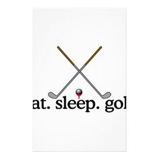 睡眠のゴルフを食べて下さい 便箋