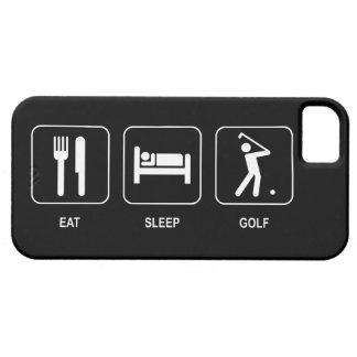 睡眠のゴルフを食べて下さい iPhone SE/5/5s ケース