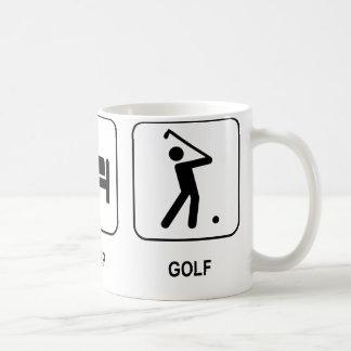 睡眠のゴルフマグを食べて下さい コーヒーマグカップ