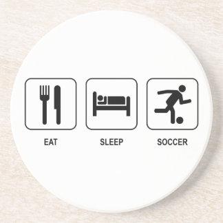 睡眠のサッカーのコースターを食べて下さい コースター