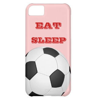 睡眠のサッカーのiPhone 5の場合を食べて下さい iPhone5Cケース