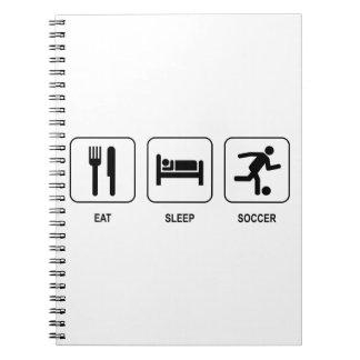 睡眠のサッカーを食べて下さい ノートブック