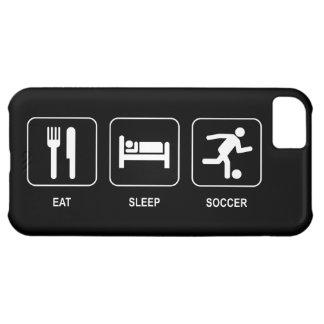 睡眠のサッカーを食べて下さい iPhone5Cケース