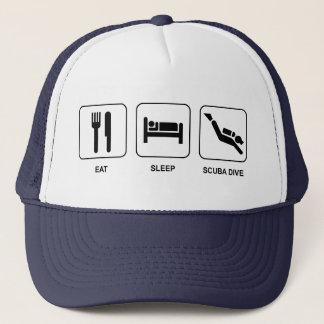睡眠のスキューバ飛び込みを食べて下さい キャップ
