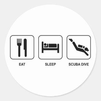 睡眠のスキューバ飛び込みを食べて下さい ラウンドシール