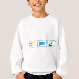 睡眠のスキーを食べて下さい スウェットシャツ