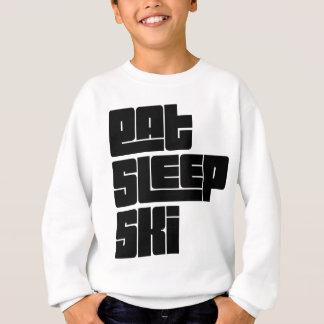 睡眠のスキー文字を食べて下さい スウェットシャツ