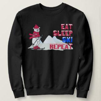 睡眠のスキー繰り返しを食べて下さい スウェットシャツ
