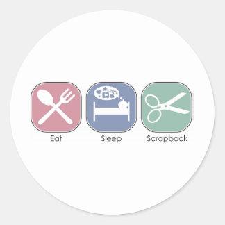 睡眠のスクラップブックを食べて下さい ラウンドシール