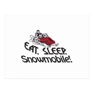 睡眠のスノーモービルを食べて下さい ポストカード