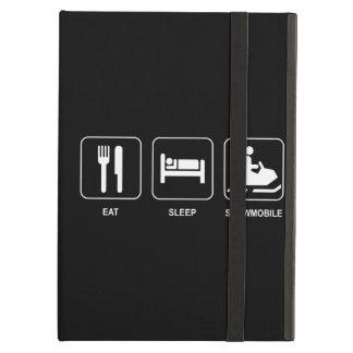睡眠のスノーモービルを食べて下さい iPad AIRケース