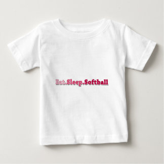 睡眠のソフトボールを食べて下さい ベビーTシャツ