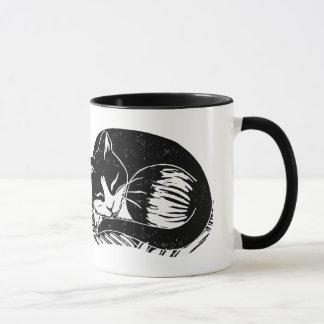 睡眠のタキシード猫のマグの飲み物用品 マグカップ