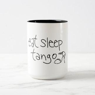 睡眠のタンゴのコーヒー・マグを食べて下さい ツートーンマグカップ