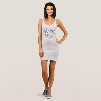 睡眠のタンゴタンク服夜ワイシャツを食べて下さい 袖なしドレス