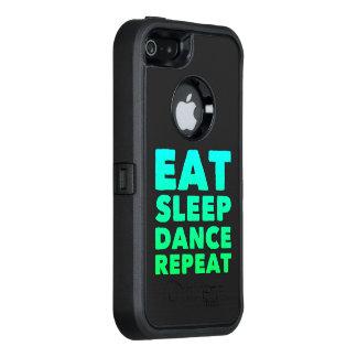 睡眠のダンスの繰り返しを食べて下さい オッターボックスディフェンダーiPhoneケース