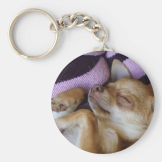 睡眠のチワワ キーホルダー