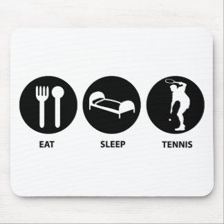 睡眠のテニスを食べて下さい マウスパッド