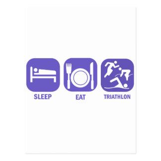 睡眠のトライアスロンを食べて下さい ポストカード