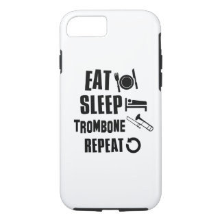 睡眠のトロンボーンを食べて下さい iPhone 8/7ケース