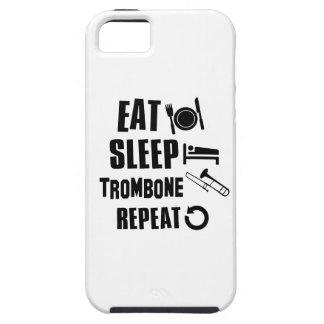 睡眠のトロンボーンを食べて下さい iPhone SE/5/5s ケース