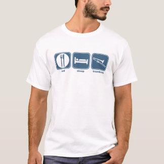 睡眠のトロンボーンを食べて下さい Tシャツ