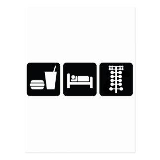 睡眠のドラッグ競争を食べて下さい ポストカード