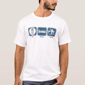 睡眠のドラムを食べて下さい Tシャツ