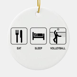 睡眠のバレーボールのオーナメントを食べて下さい セラミックオーナメント