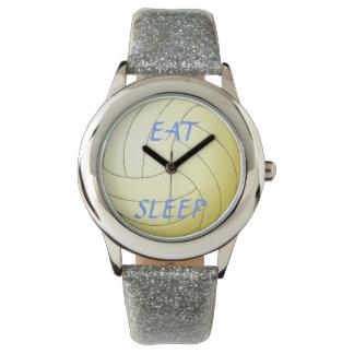 睡眠のバレーボールを食べて下さい 腕時計