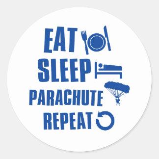 睡眠のパラシュートを食べて下さい ラウンドシール