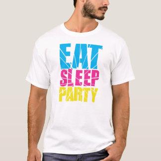 睡眠のパーティーを食べて下さい! Tシャツ