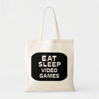睡眠のビデオゲームを食べて下さい トートバッグ
