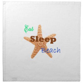 睡眠のビーチ-ナプキン--を食べて下さい ナプキンクロス