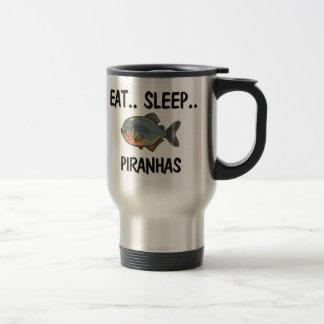 睡眠のピラニアを食べて下さい トラベルマグ