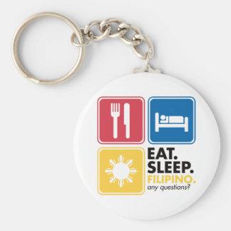 睡眠のフィリピン人を食べて下さい キーホルダー