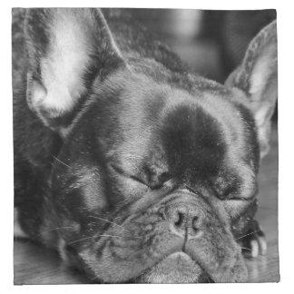 睡眠のフレンチ・ブルドッグ ナプキンクロス