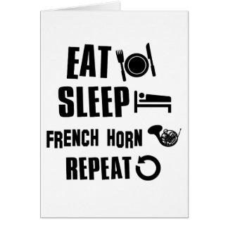 睡眠のフレンチ・ホルンの繰り返しを食べて下さい カード