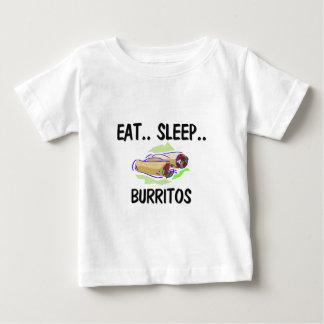 睡眠のブリトーを食べて下さい ベビーTシャツ
