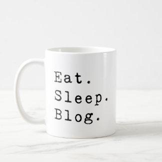 睡眠のブログを食べて下さい コーヒーマグカップ