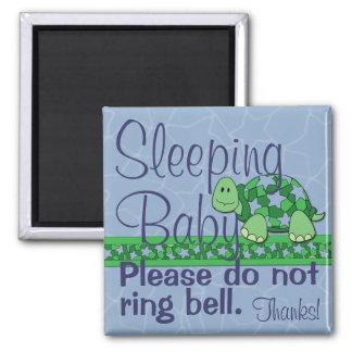 睡眠のベビーの正面玄関の印 マグネット