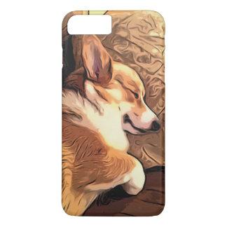 睡眠のペンブロークのウェルシュコーギー犬 iPhone 8 PLUS/7 PLUSケース