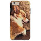 睡眠のペンブロークのウェルシュコーギー犬 TOUGH iPhone 6 PLUS ケース