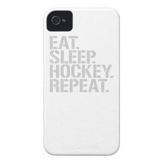 睡眠のホッケーの繰り返しを食べて下さい Case-Mate iPhone 4 ケース