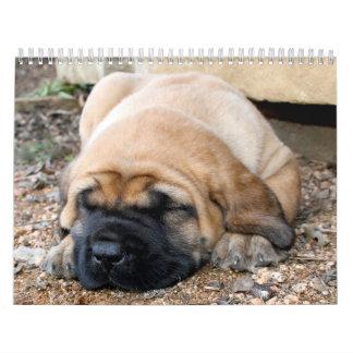 睡眠のマスティフのカレンダー カレンダー