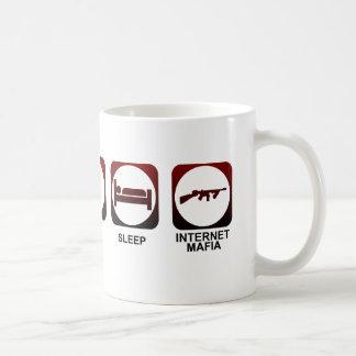睡眠のマフィアを食べて下さい コーヒーマグカップ
